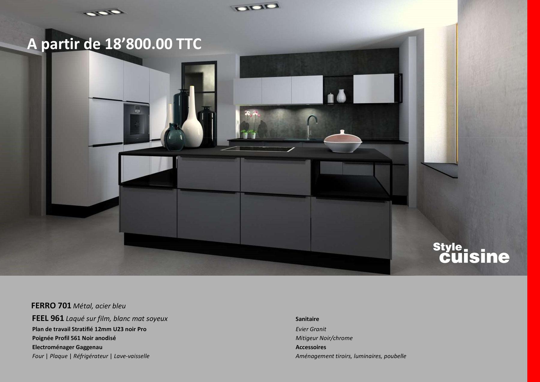 Plan De Travail Chrome aménagement de cuisine, mobilier design et dressing sur mesure